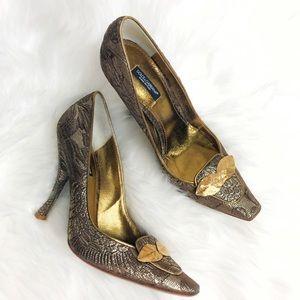 Dolce & Gabbana Leaf Jacquard Heels